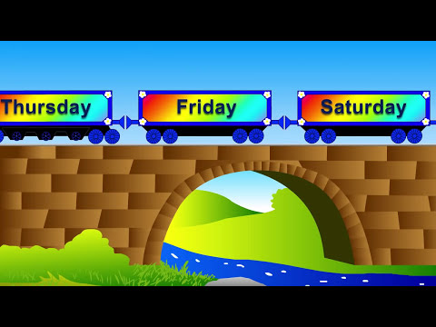 Educational videos and cartoons for children. Learn the Days of the Week with Choo-Choo Train.