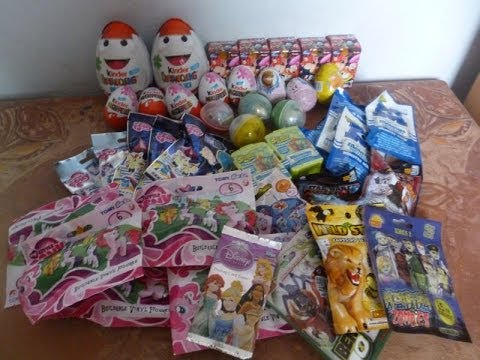 43 Blind bags surprise eggs opening Kinder Disney Japan Furuta Maxi Star Wars Monsters University 7.