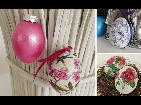 Diy nostalgie ostereier mit serviettentechnik selber machen deko kitchen youtube - Youtube deko kitchen ...