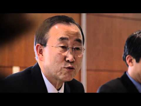 Global Zero students meet Ban Ki-moon