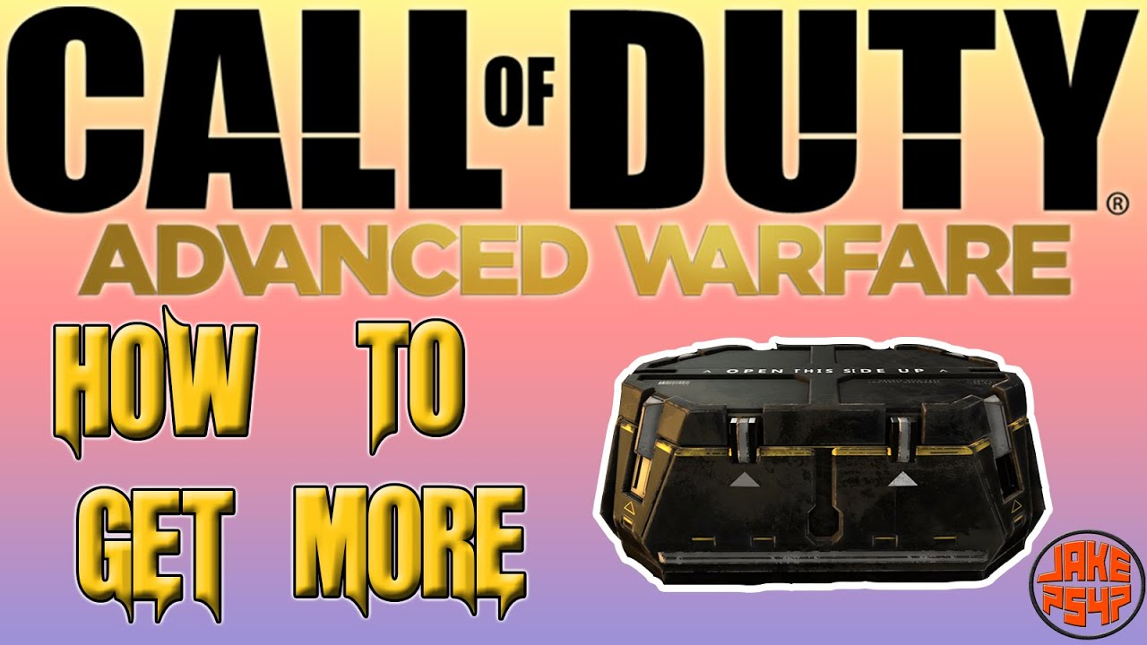 how to get supply drops in advanced warfare fast
