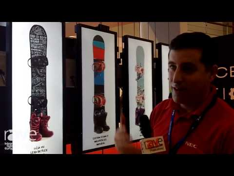ISE 2014: NEC's Chris Parker Demos 29″ MultiSync EA294WMi Retail Displays