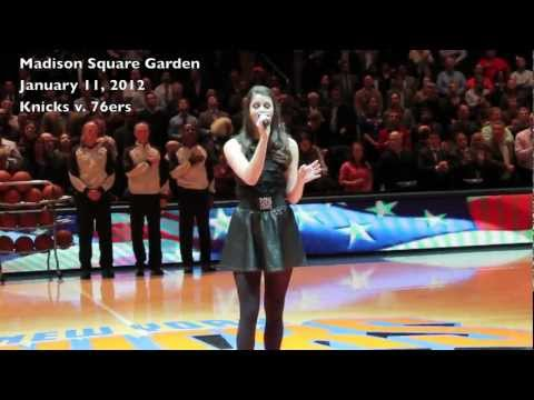 Lily Lane National Anthem @ Knicks v. 76ers, Jan 11 2012