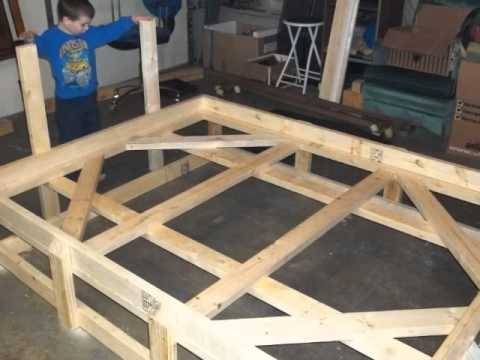 Custom Bed Frame From 2x4 S Youtube