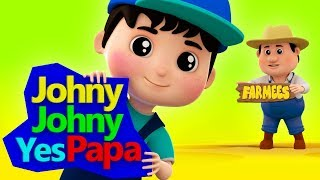 Johny Johny Yes Papa | Cartoon Videos For Children by Farmees