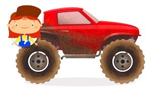 Monster truck cartoon for kids. SUV truck
