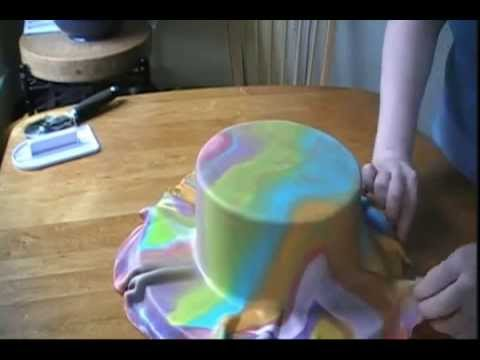 How to Tie Dye Fondant and The Mat Demonstration