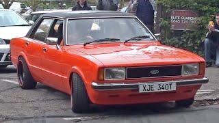Ford Cortina Mk4 Leaving a Car Meet