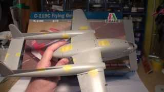 1/72 ITALERI C-119 FAIRCHILD FLYING BOXCAR . 10minute UNBOXİNG