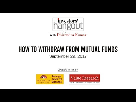 How to withdraw from mutual funds