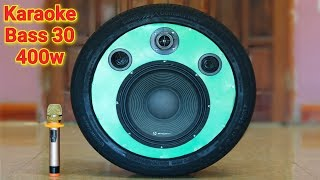 Chế loa kéo karaoke bass 30 tiếng trầm uy lực từ lốp ôtô cũ