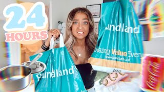 I Only Used POUNDLAND Products for 24 HOURS!
