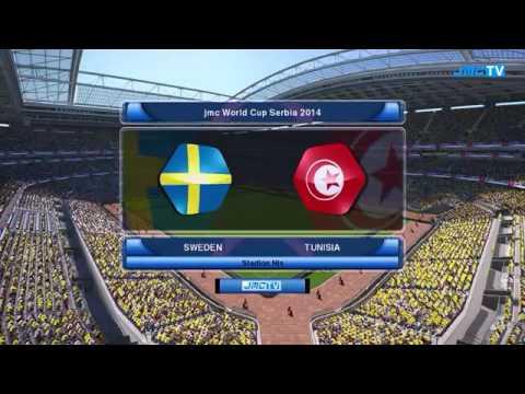 Mundial De Futbol Serbia 2014 Grupo B Suecia vs Tunisia