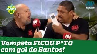 Ficou PU**! OLHA como Vampeta reagiu ao gol do Santos contra o Corinthians!