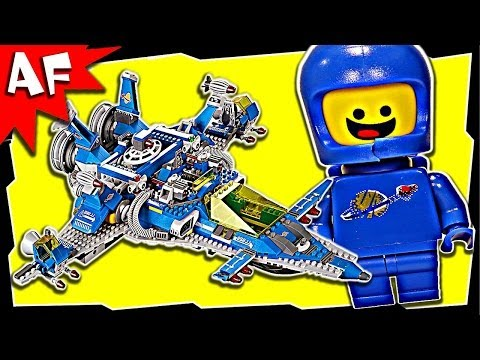 Lego Movie BENNY'S Spaceship. Spaceship. SPACESHIP 70816 Stop Motion Set Review