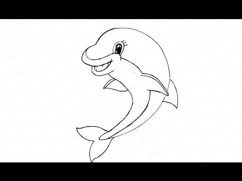 Видео как нарисовать дельфина карандашом поэтапно