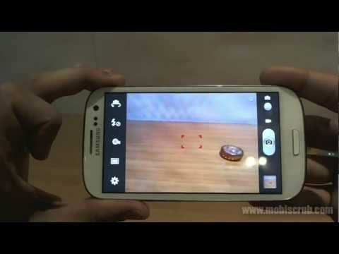 Samsung Galaxy S III (S 3) camera review video