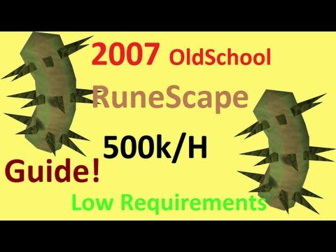 2007 RuneScape Money Making Guide 500k/h and 30k melee xp