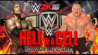WWE 2K16 WWE CHAMPIONSHIP The Rock VS Brock Lesnar Acte.2 Revanche