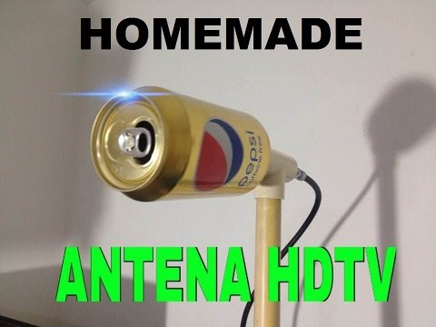 HOW TO MAKE HOMEMADE HD ANTENNA.WITH CAN OF PEPSI. *plazacamacho*