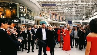 Best Marriage Proposal Ever | Flash Mob Surprise Orchestra Waterloo Station Engagement