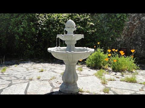 Blumfeldt Solar Birdbath Fountain