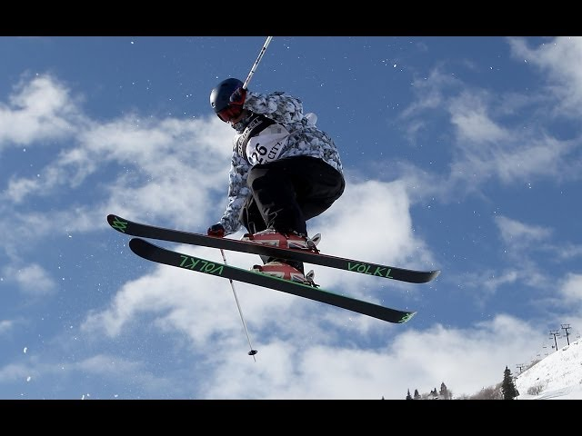 British Halfpipe Skier James Machon hits the slopes in Colorado