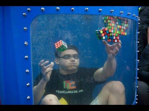 Guinness World Record! 8 Rubik's Cubes Solved Underwater