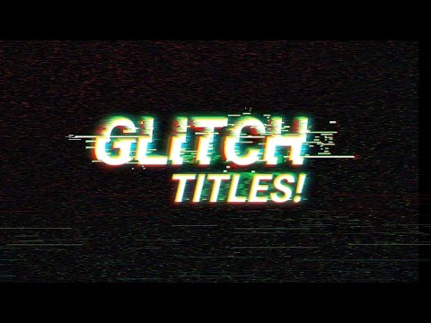 FREE After Effects Glitch Template │ 10 AWESOME Glitch Titles For FREE! No Plugins Needed!