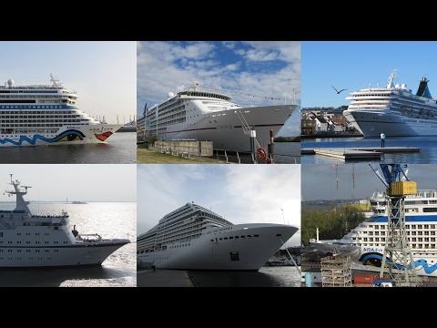 Schiffshorn von verschiedenen Kreuzfahrtschiffen
