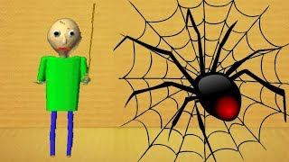 Baldi's Basics Buddy vs Black Widow SPIDER | Kick The Buddy