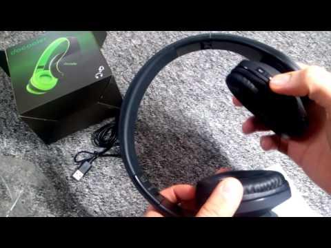MP3 Kopfhörer mit Micro SD FM Radio Bluetooth und Aux in idealer Wegbegleiter docooler JH-812