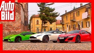 Aston Martin DB11 vs Lamborghini Hurácan Performante vs Honda NSX Review/Test/Vergleich