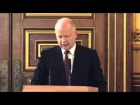 William Hague speech at HRD Report launch 2013
