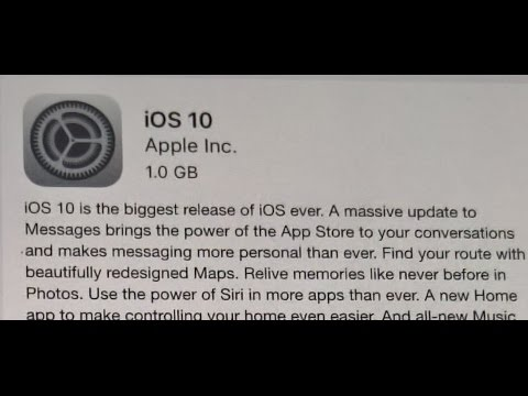 iOS 10.0.1 Software Update New features and improvements - About this Update iOS 10 Version 14A403