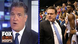 Will brawl leave Kansas basketball with a black eye? Steve Lavin breaks it down | FOX COLLEGE HOOPS