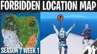 Dance at Forbidden Locations Challenge Map | Season 7 Week 1 Challenge Guide