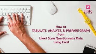 How to tabulate, analyze, and prepare graph from Likert Scale questionnaire data using Ms Excel.