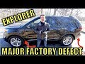 The 2011-2017 Ford Explorer Has A Dangerous Defect That Ford Has Known About For Years.