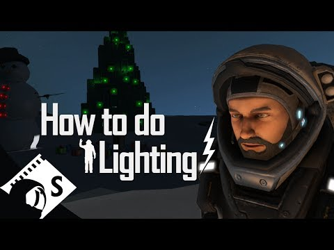 Space Engineers Tutorial: Lighting (Part 9 of a survival tutorial series)