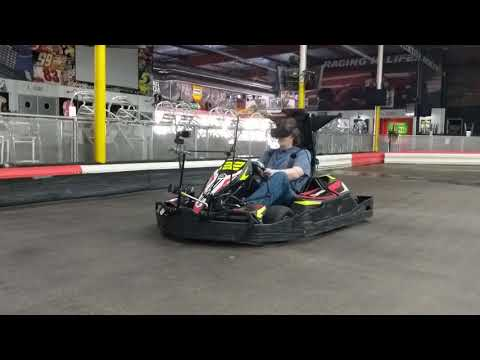 Driving A Go Kart While Wearing Oculus Rift