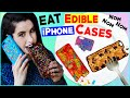 DIY Edible iPhone Cases! | EAT Your Phone Case! | How To Make The FIRST Eatable Phone Case!