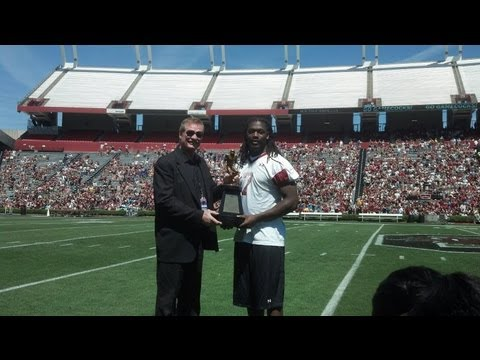 Garnet & Black Spring Game - Football Halftime Awards