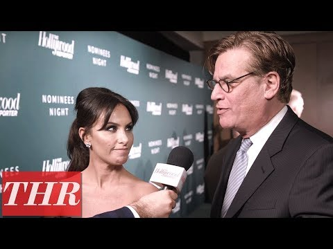 Aaron Sorkin & Molly Bloom Talk 'Molly's Game,' Jessica Chastain & More | THR Nominees Night
