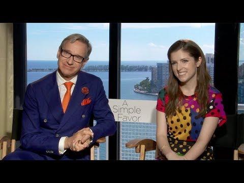 Paul Feig & Anna Kendrick Interview: A Simple Favor (2018 Movie)