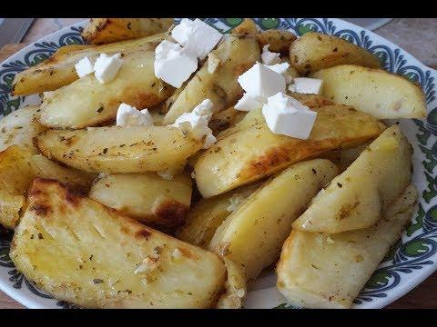 Картошка по-гречески в духовке/Potatoes in Greek in the oven