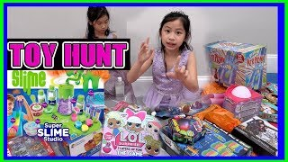 I mailed myself to a TOY STORE and it WORKED! TOY HUNT - TOYS R US - LOL Surprise - SLIME (FunTV)