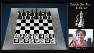 Jogando contra o Chess Titans do Windows no Nível Máximo com uma peça a menos!    #Revanche