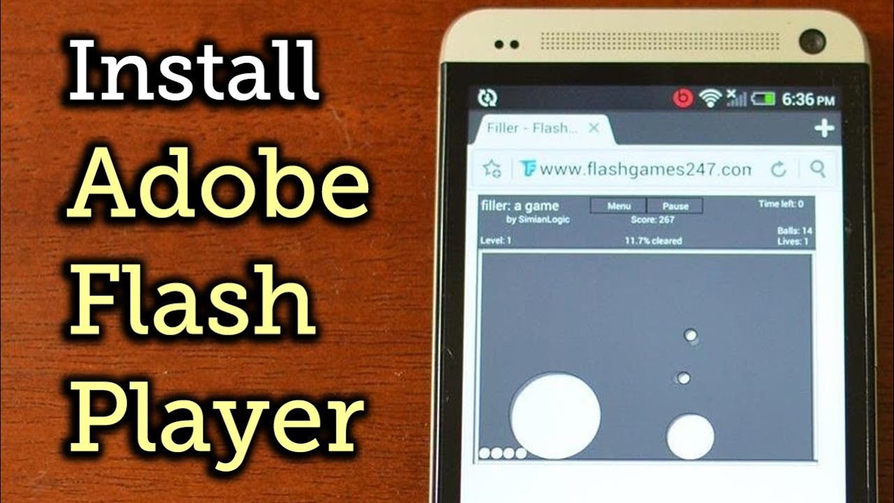 Install adobe flash player on the htc one how to youtube Install adobe flash