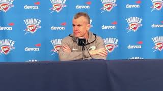 Thunder vs Nets - Billy Donovan